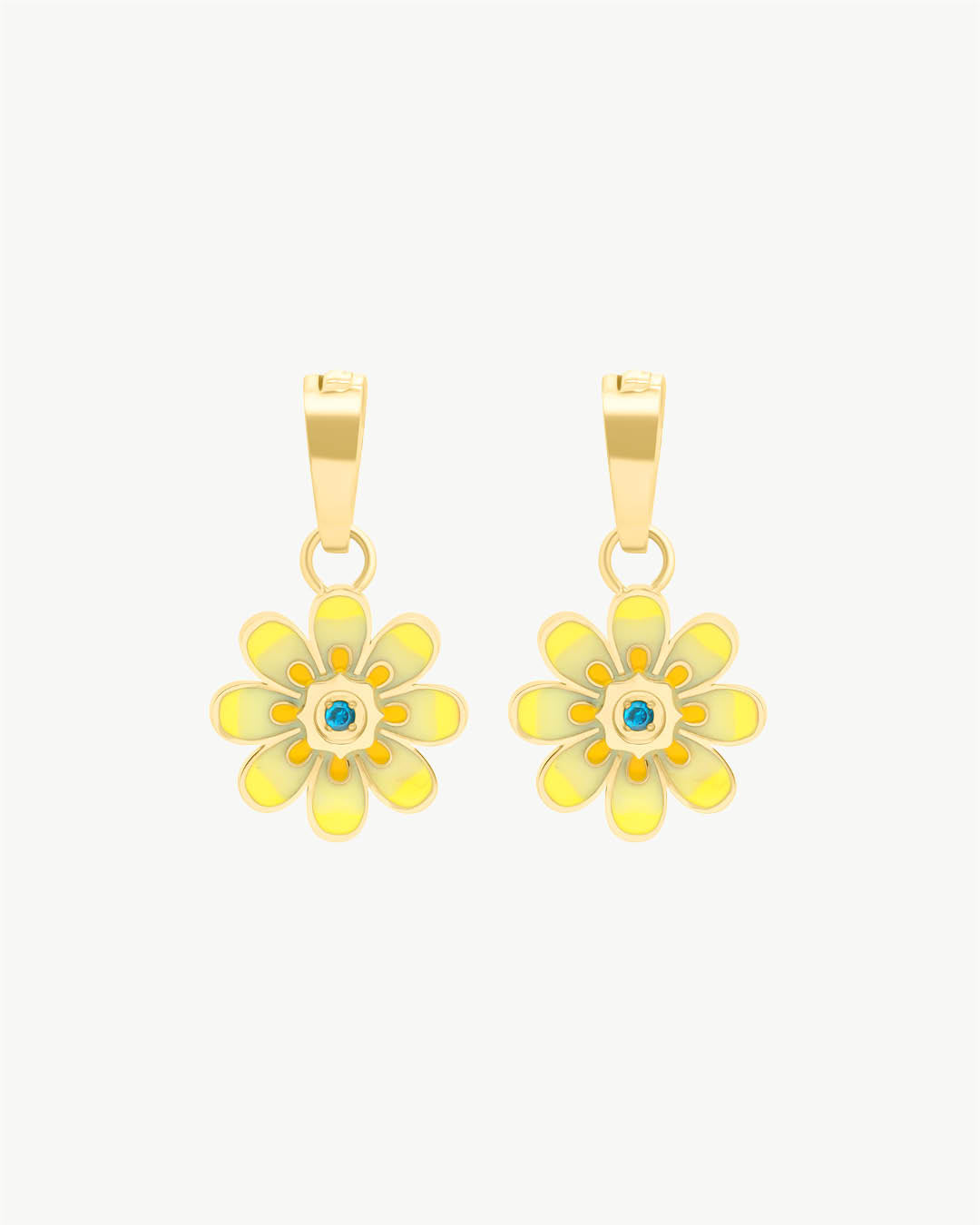 Oopsy Daisy Yellow Ohrring Anhänger, Gold