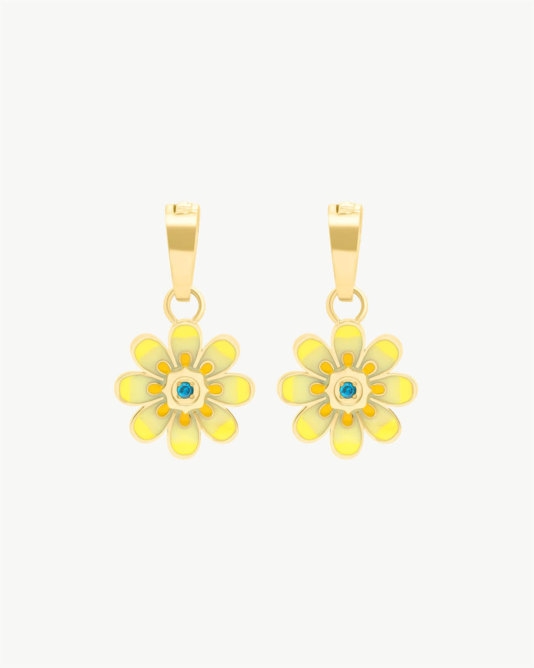 Pendentifs Boucle D'oreille Oopsy Daisy Jaune, Or