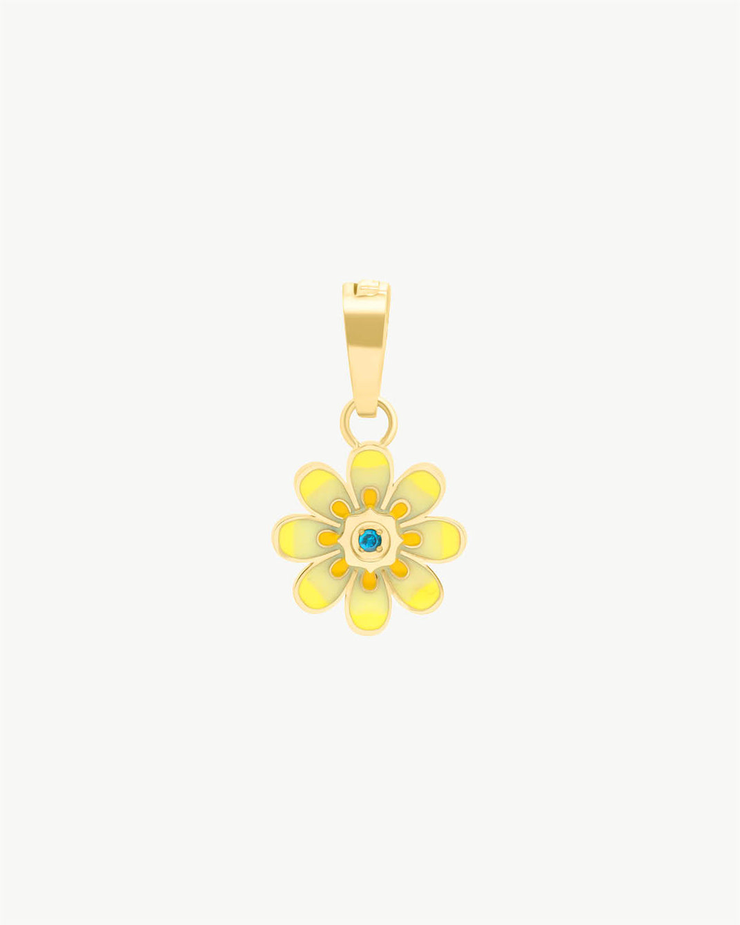 Pendentif Oopsy Daisy jaune, or