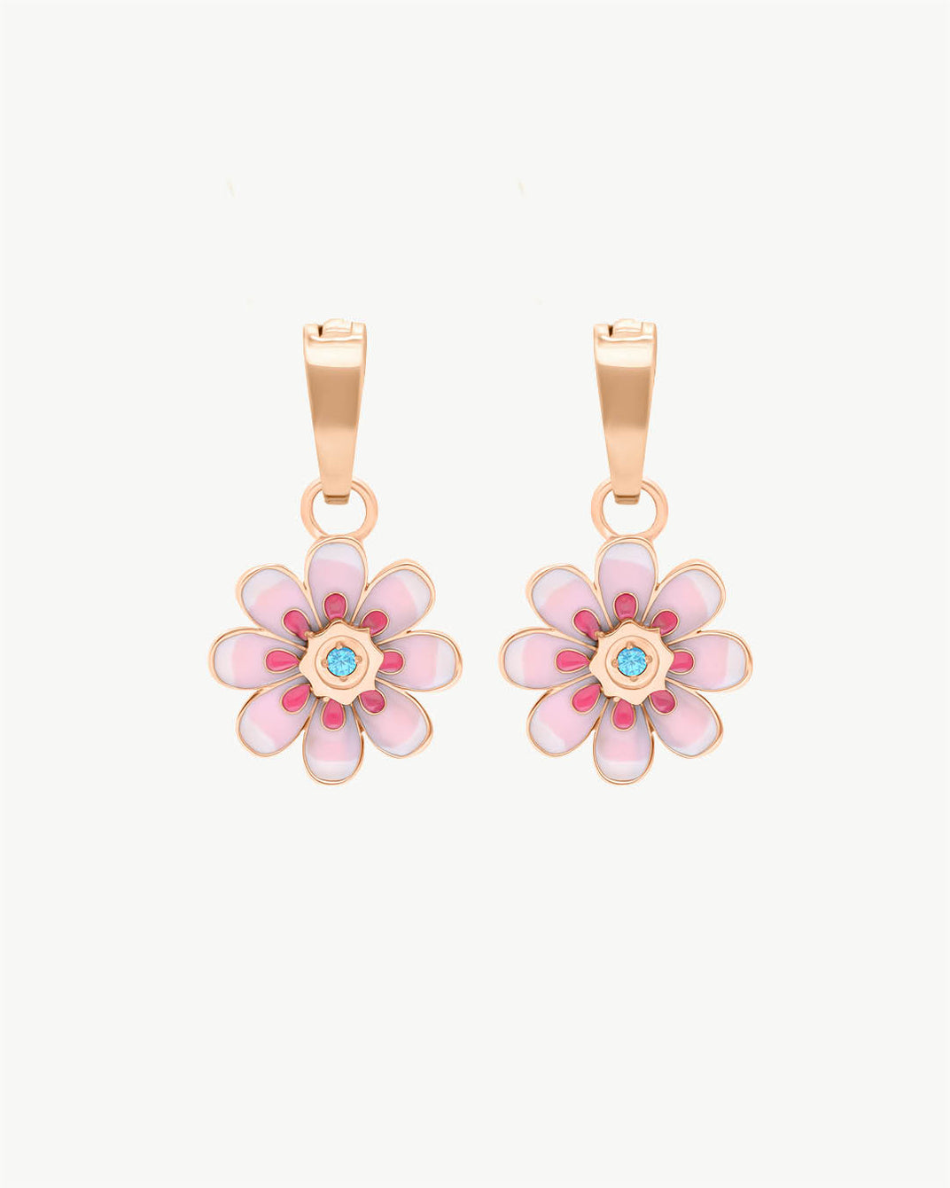 Pendentifs Boucle D'oreille Oopsy Daisy Rose, Or Rose