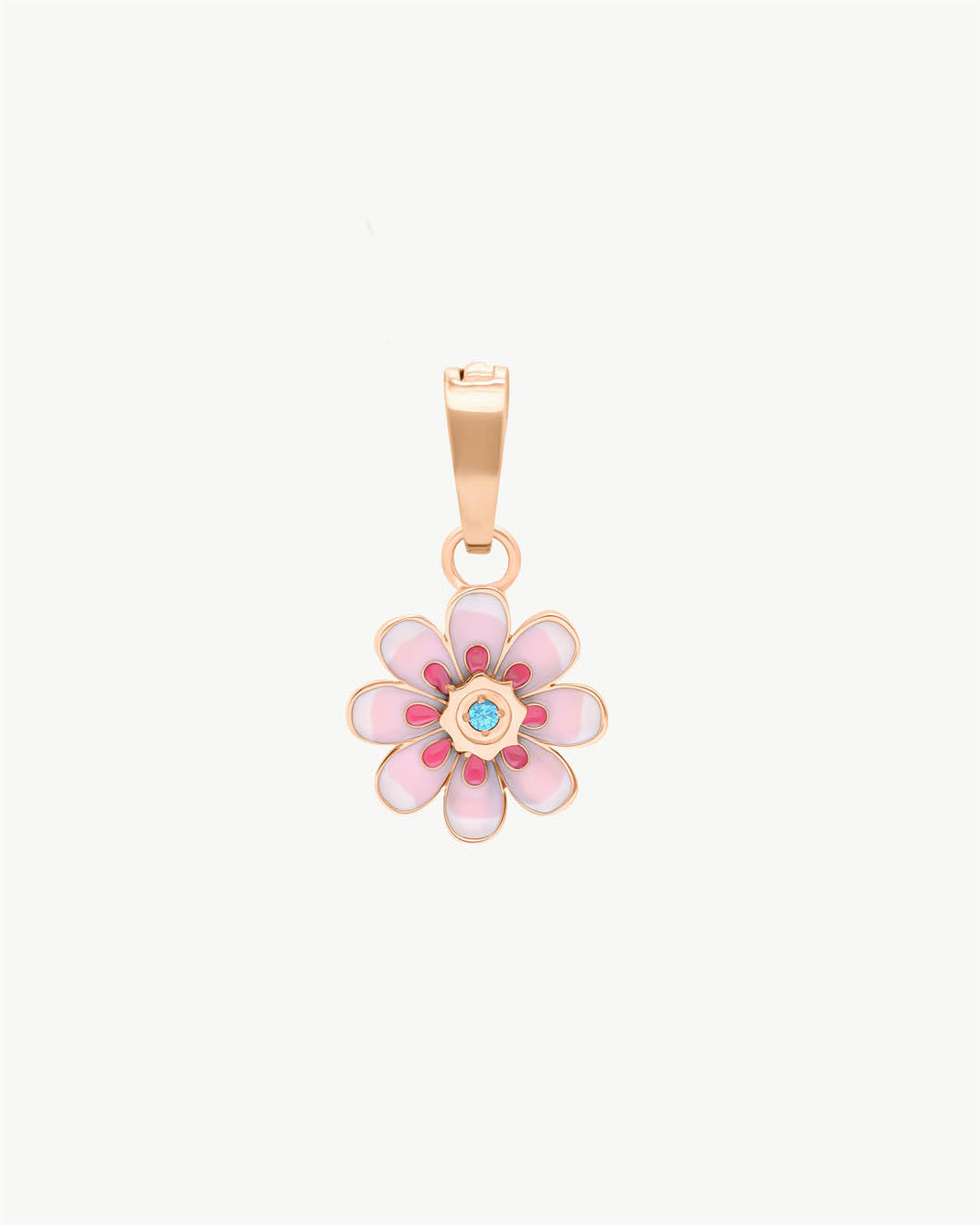 Pendentif Oopsy Daisy rose, or rose