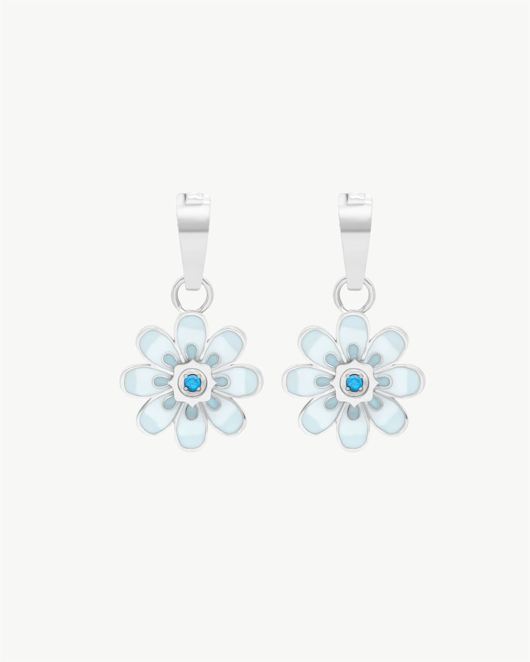 Pendentifs Oopsy Daisy Blue, Argent
