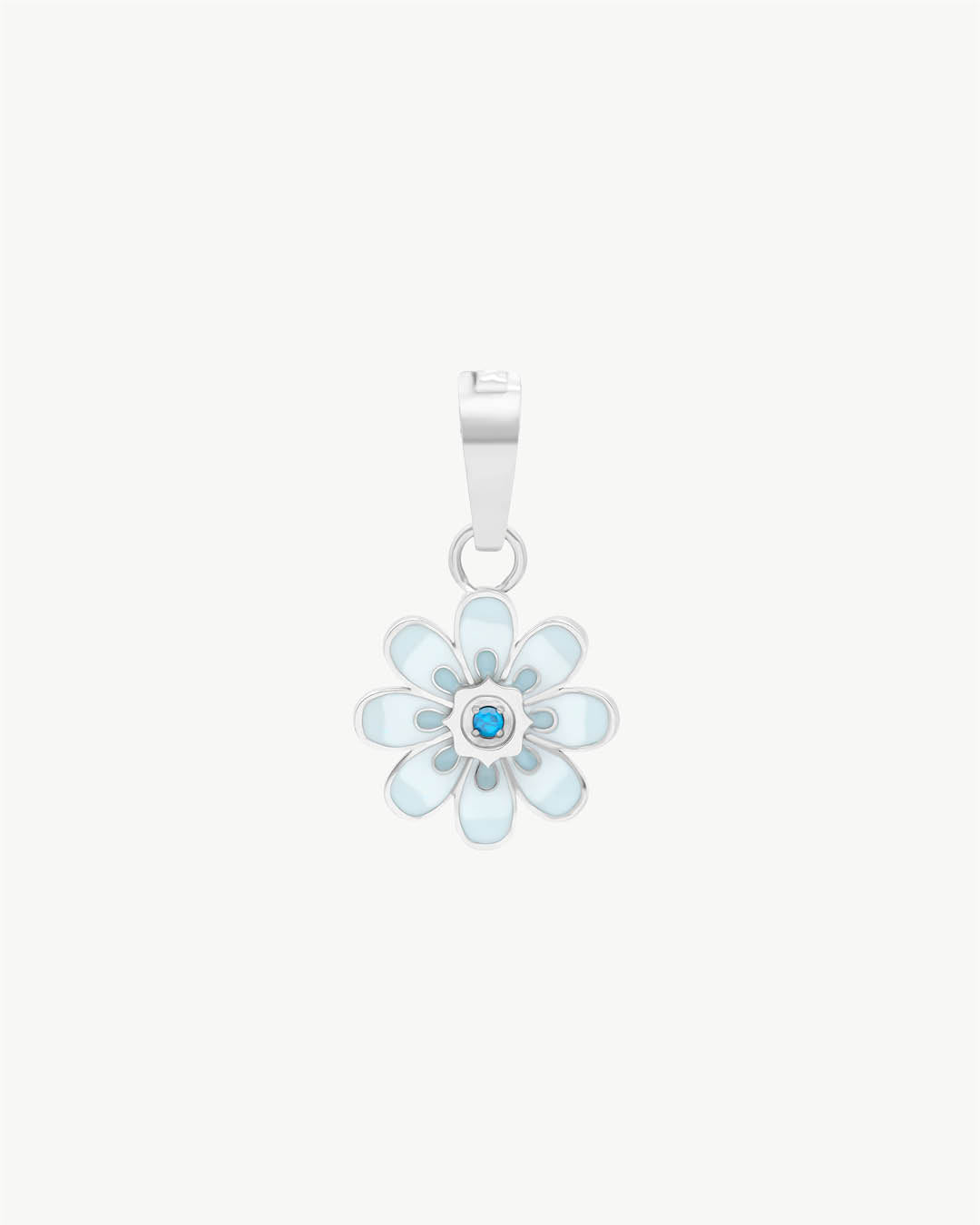 Pendentif Oopsy Daisy Blue, argent