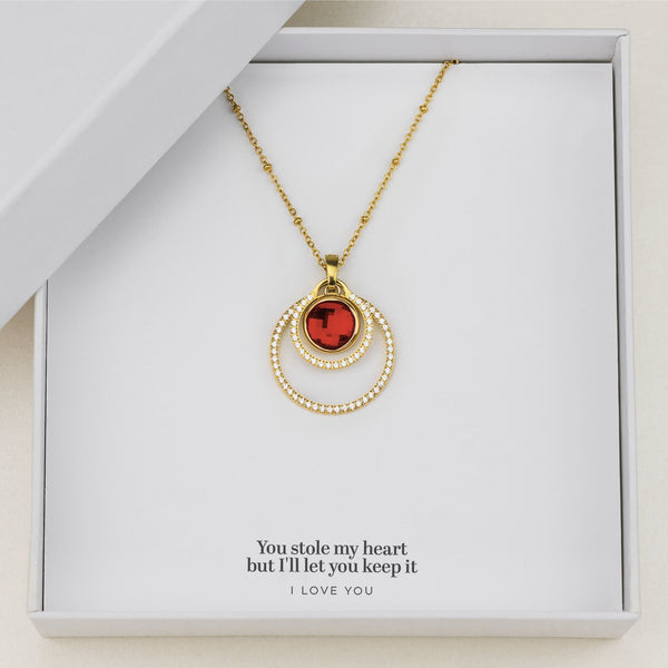 Love's Passion Halo Necklace Set, Gold