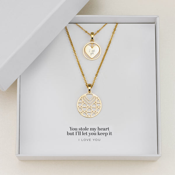 I Love You Gift Set, Gold