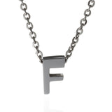 F Letter Initial Necklace, Gold