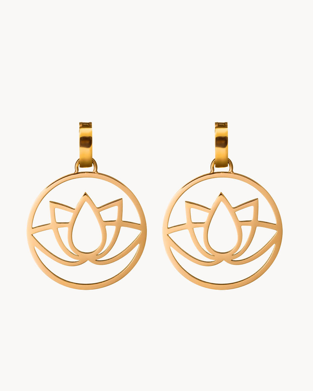 Pendentifs Boucle D'oreille Lotus in Bloom, Or