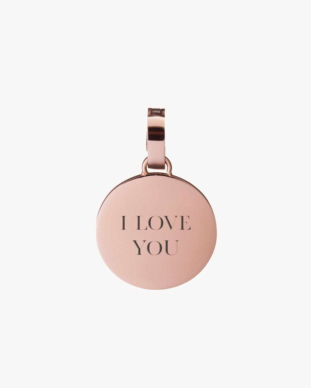 I Love You Dainty Disc κρεμαστό κόσμημα, Rose Gold