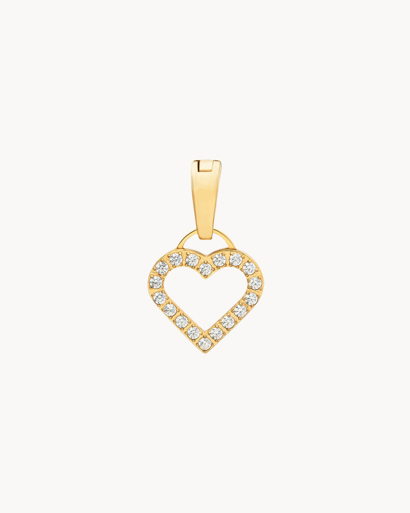 i Love. Dainty Heart Pendant, Gold