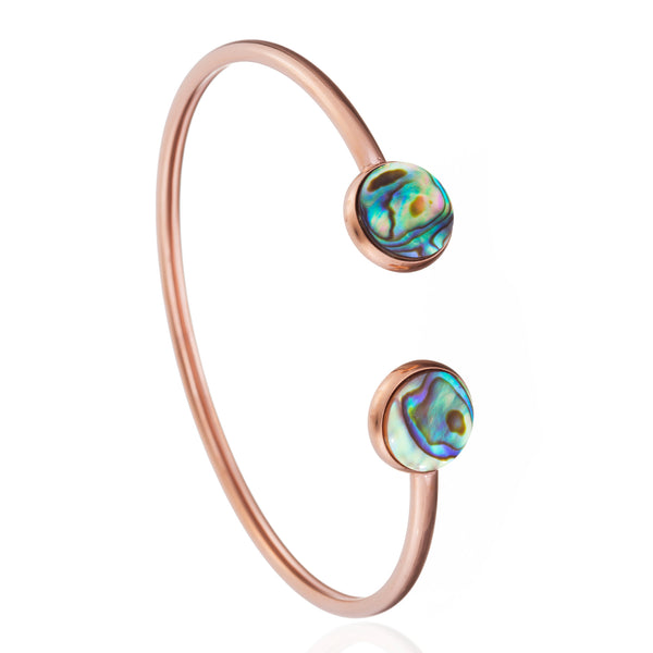 Fearlessness Signature Bangle Rose Gold, Abalone