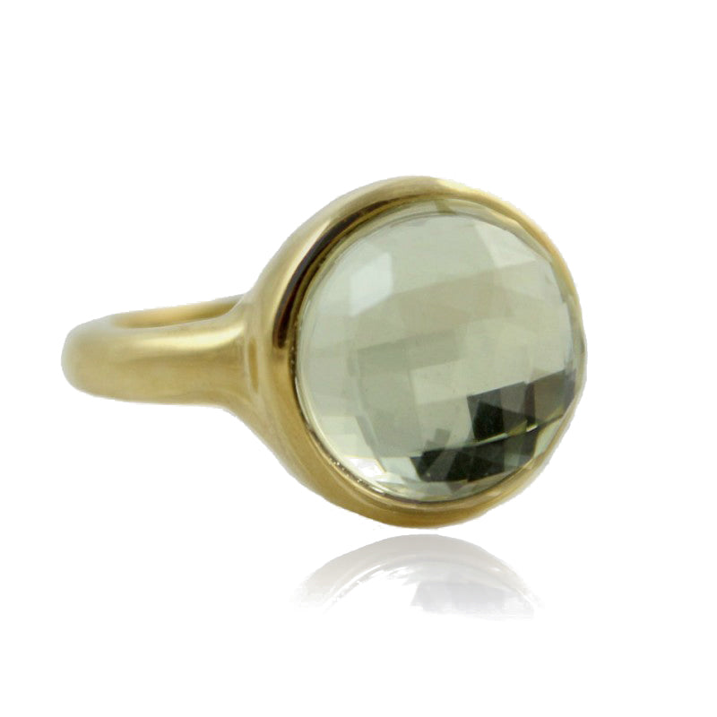 Radiance Gold Ring, braunes Glas