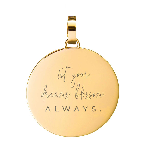 Dreams Blossom Medium Disc Engraizable, Gold