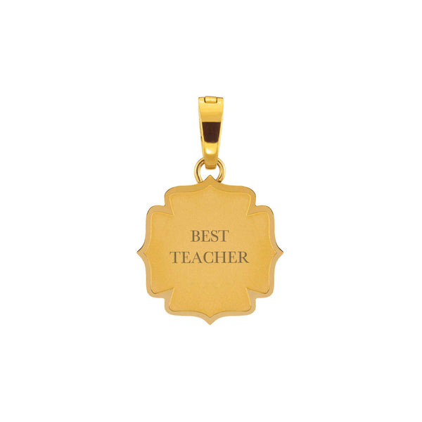 Best Teacher Fjura Pendente da Incidere, Oro