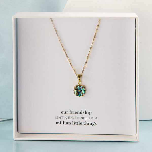 June Birthstone Blossom necklace Gift Set, Gold