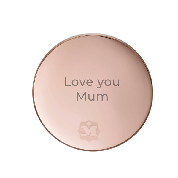 Love You Mum Inciso Twist Back, Rose Gold