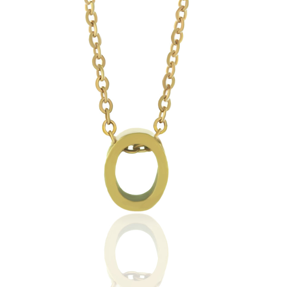 O Letter Initial Necklace