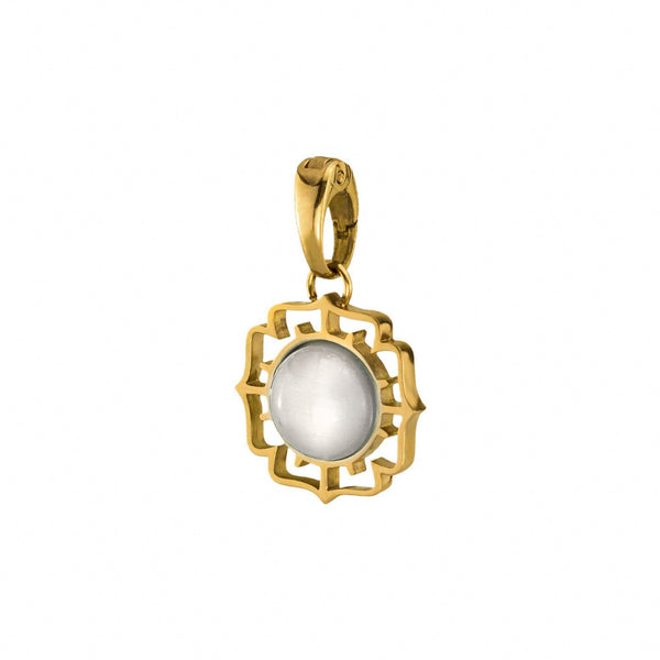 Faith Fjura Pendant Gold, White Cat Eye