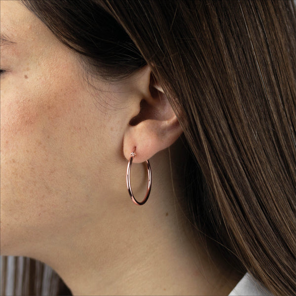 Mvintage Signature Hoops Rose Gold Earrings