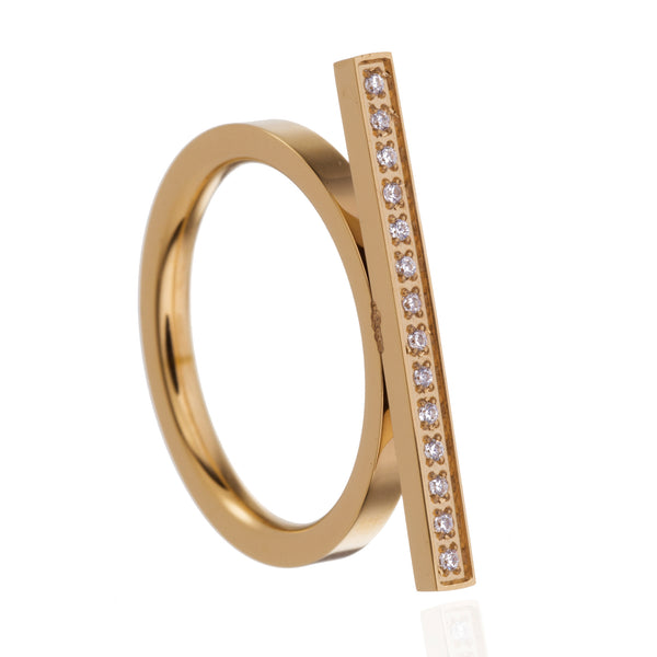 Bague Urban Sparkle Dainty Bar Or