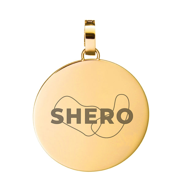 Pendente SHERO Medium Disc, Oro