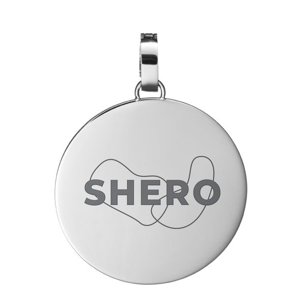 Pendente SHERO Medium Disc, Argento