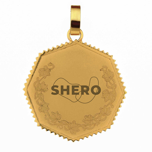SHERO Twenty Five Cents Munita Pendant, Gold