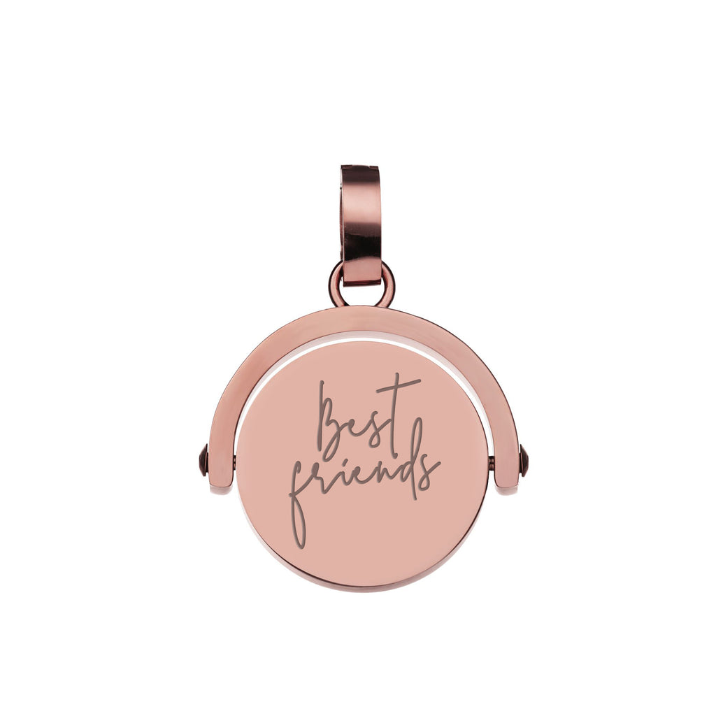 Spin Engravable Pendant, Rose Gold