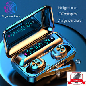 Three LED Display Touch Wireless Bluetooth Earphones