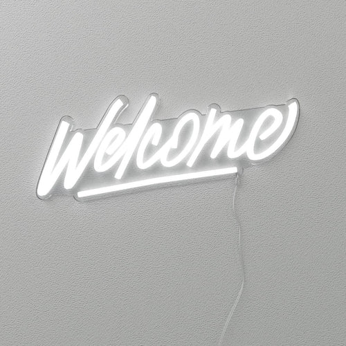 Welcome by Stephane Lopes - LED Neon Sign - yellowpop