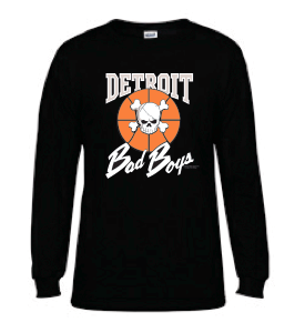 Wholesale * Detroit Bad Boys Long Sleeve T-Shirt