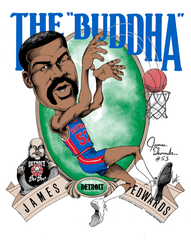 "James ""The Buddha"" Edwards Caricature T-Shirt"