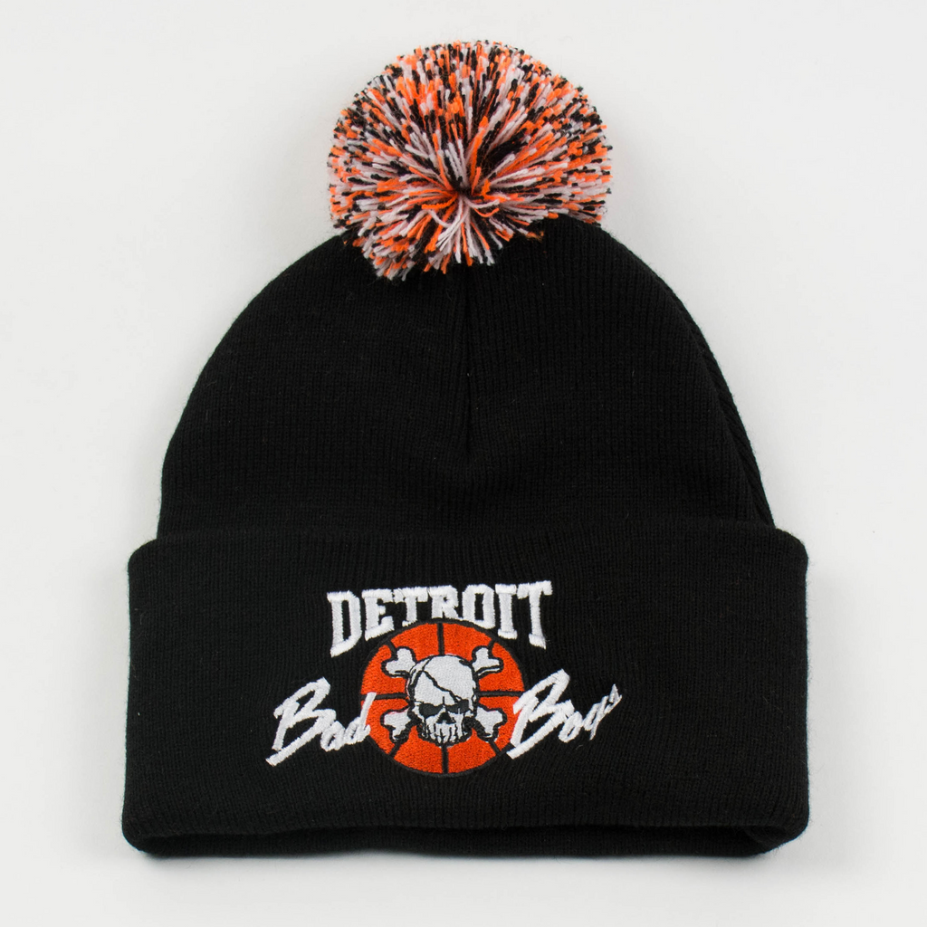 Detroit Bad Boys Multi-colored Pom Beanie