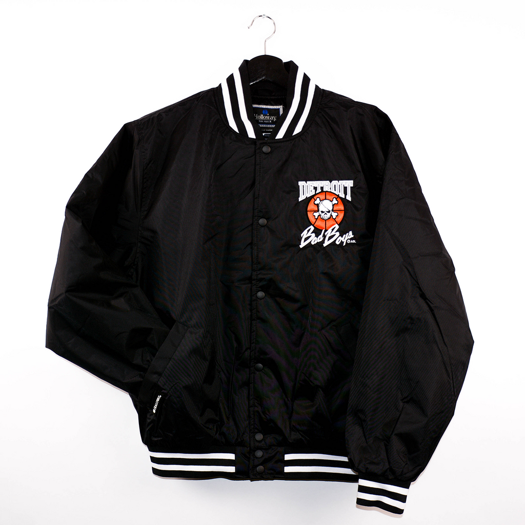Detroit Bad Boys Twill Striped Coaches Jacket