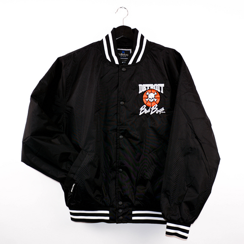 Wholesale * Detroit Bad Boys Twill Striped Coaches Jacket