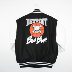 Detroit Bad Boys White Leather Jacket
