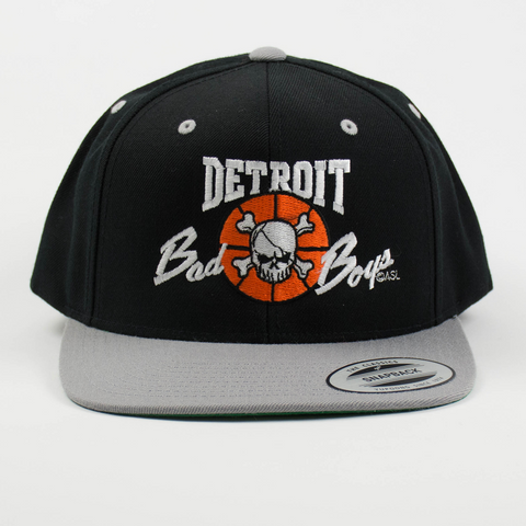 Detroit Bad Boys Flat Bill Grey Snapback Cap