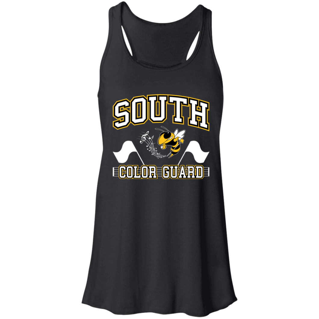 South Color Guard Flowy Racerback Tank