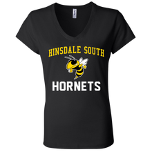 Load image into Gallery viewer, Hinsdale South Hornets Ladies' Jersey V-Neck T-Shirt