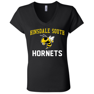 Hinsdale South Hornets Ladies' Jersey V-Neck T-Shirt
