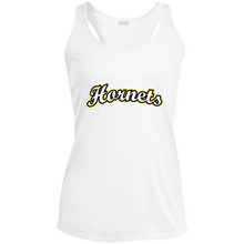 Load image into Gallery viewer, Hornets Ladies' Racerback Moisture Wicking Tank