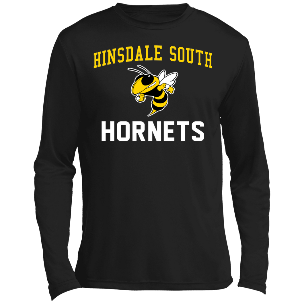 Hinsdale South Hornets Long sleeve Moisture Absorbing T-Shirt
