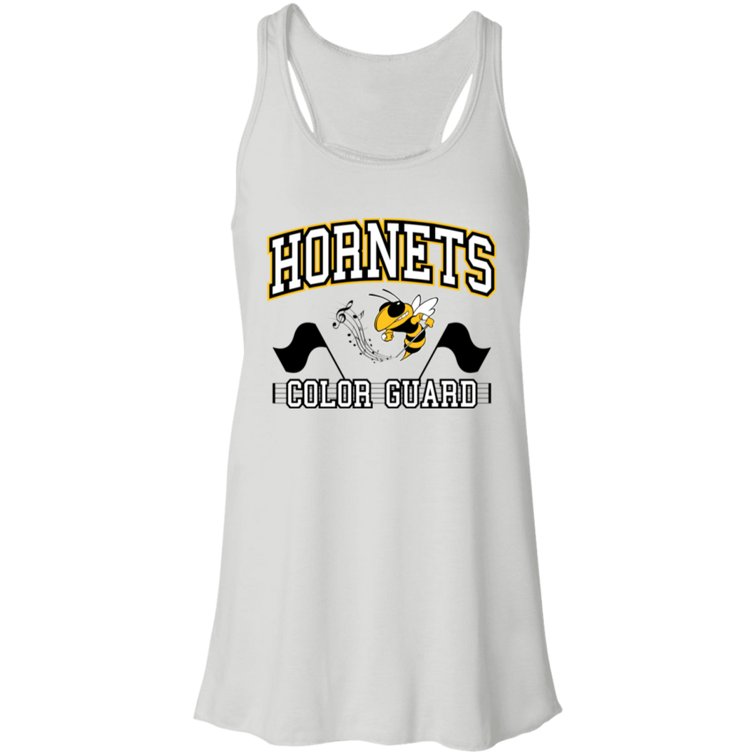 Hornets Color Guard Flowy Racerback Tank