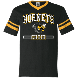 Hornets Choir V-Neck Sleeve Stripe Jersey