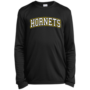 Hornets Youth Long Sleeve Moisture-Wicking T-Shirt