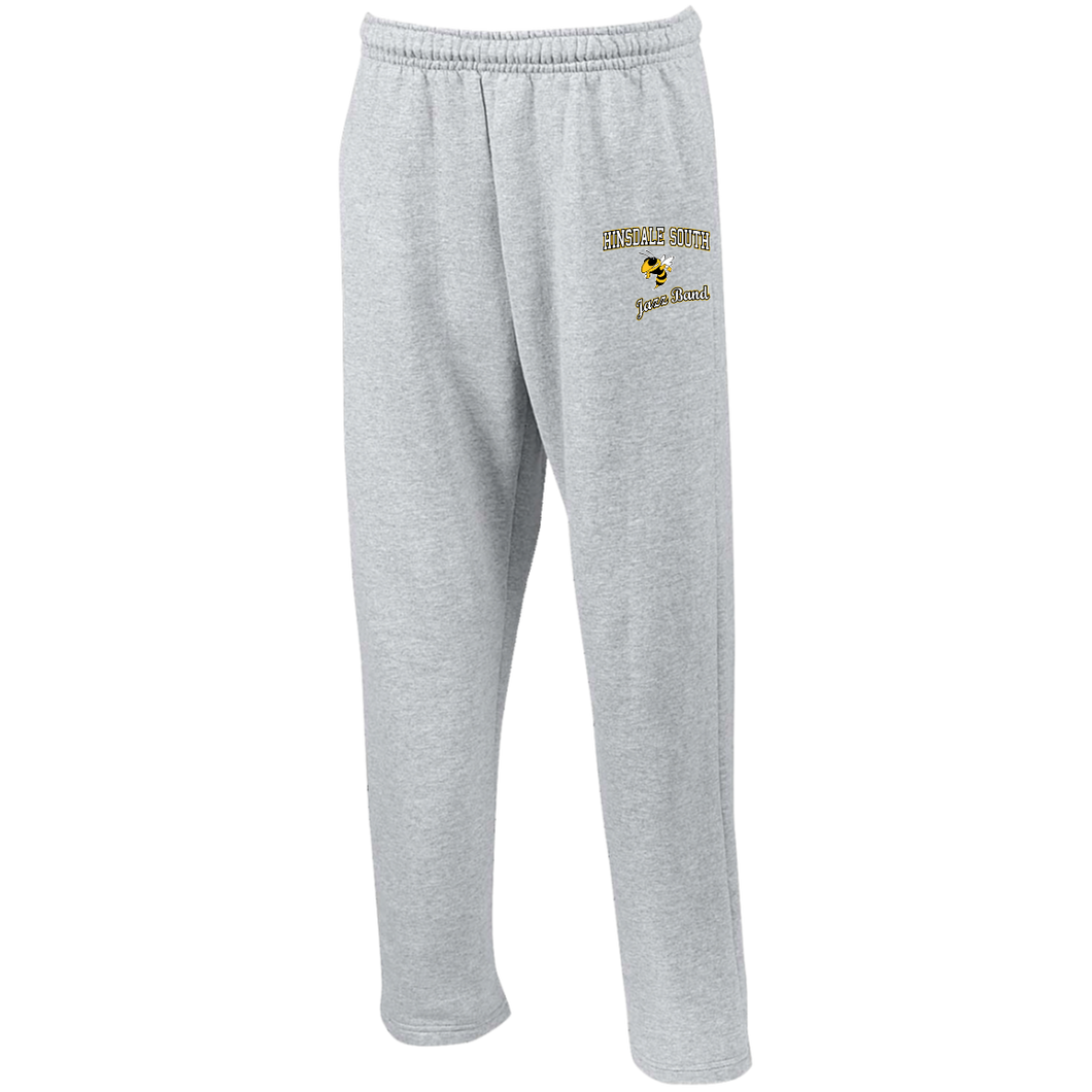 Jazz Band Open Bottom Sweatpants with Pockets