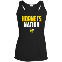Load image into Gallery viewer, Hornets Nation Ladies' Racerback Moisture Wicking Tank