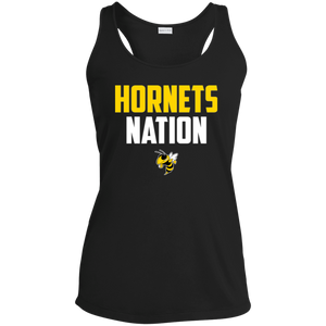 Hornets Nation Ladies' Racerback Moisture Wicking Tank
