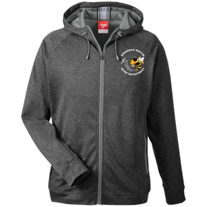 Hinsdale South Music Department Embroidered Men's Heathered Performance Hooded Jacket