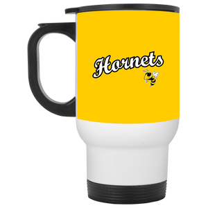 Hornets White Travel Mug