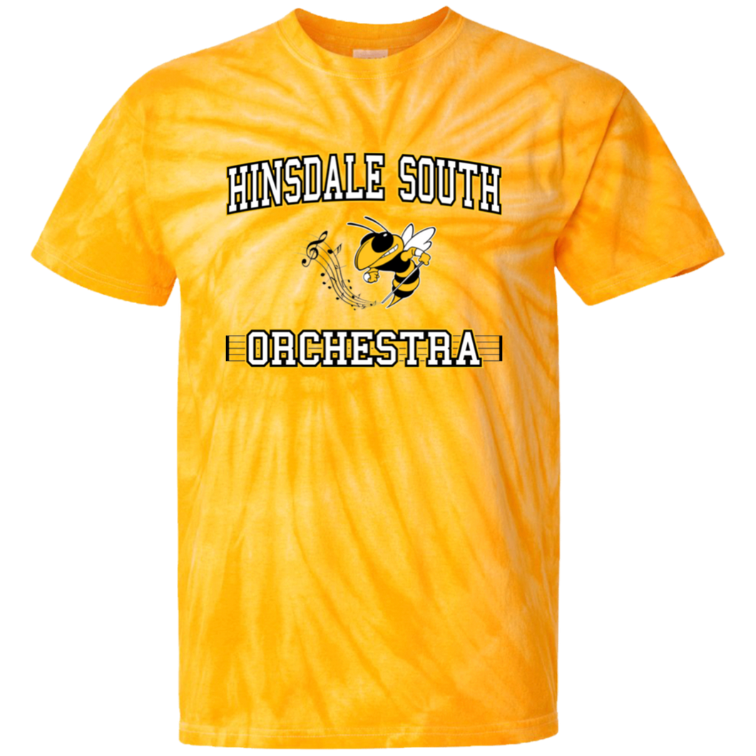 Hindsale South Orchestra Block 100% Cotton Tie Dye T-Shirt